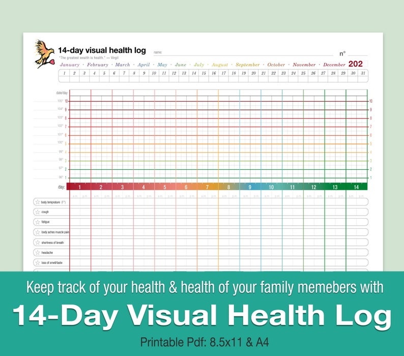 14-Day Visual Health log image 0
