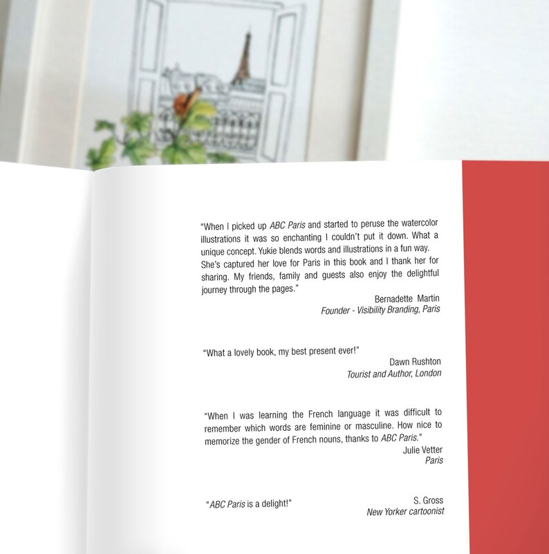 ABC Paris - Souvenir book - Learn over 100 French words