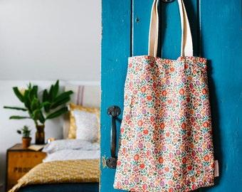 Tote Bag made with Liberty Fabric 'Danjo Rust'
