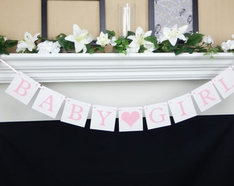 Baby Girl Banner, its a girl banner, baby shower banner, girl baby decorations, girl baby shower, baby shower decor, baby shower decoration