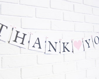 Thank you banner, wedding banners, thank you photo props, wedding photo banner, photo prop banner, thank you sign, thanks sign, wedding sign