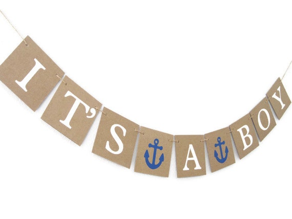 ahoy its a boy banner baby shower banner nautical baby shower sign