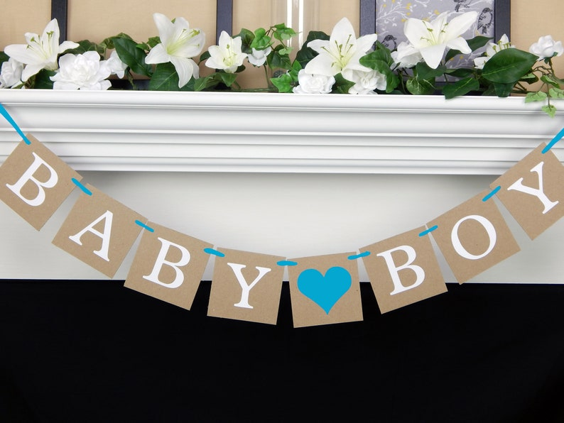 Boy Baby Shower Decorations Its A Boy Banner Gender Reveal Etsy