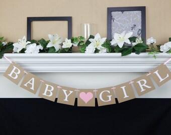 Baby Girl Banner, girl baby shower decorations, baby shower banner, girl baby banner, its a girl banner, baby shower decor, gender reveal