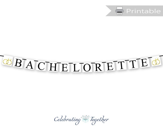 Custom Colors Engagement Bridal Shower Bachelorette Decoration or Photo Prop Bride to Be Banner with Rings