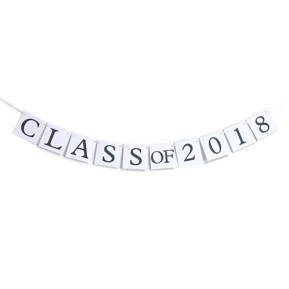 class of 2018 banner graduation party decor congratulations sign