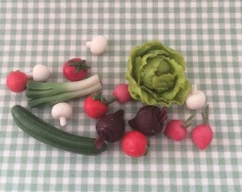 Dolls House Miniature Selection of Mixed Salad - Handmade
