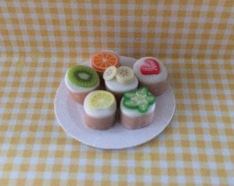 Dolls House Miniature Fruit Cakes - Handmade