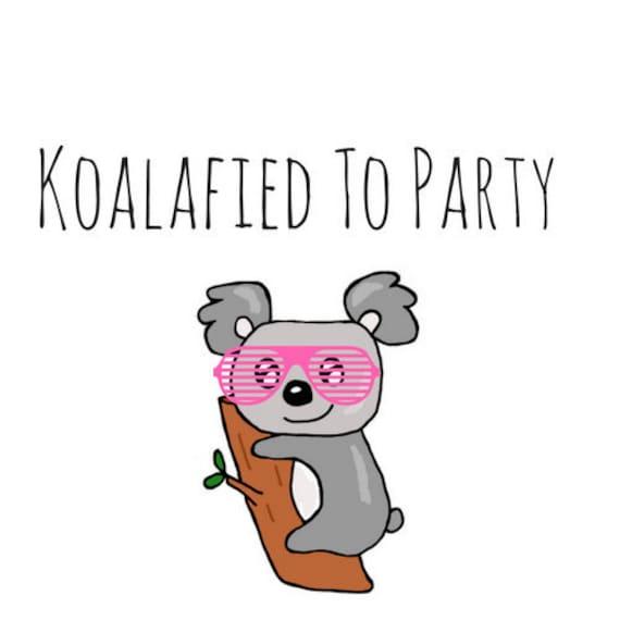 Koala Pun Card Puns Pun Card Thank You Birthday Etsy