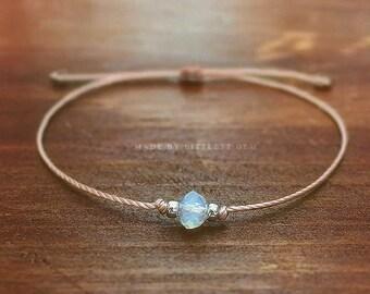 Opalite Jewelry, Opalite Bracelet, bracelets for women, bridesmaid gift, best friend gift, friendship bracelet, faux moonstone bracelet