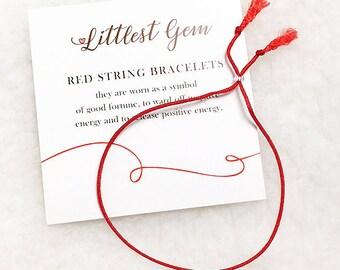 Red String Bracelet - Best Friend Gift - Couples Bracelet - Red string of Fate