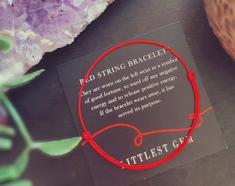 Red String Bracelets - Beaded Bracelet - Red Bracelet - Bracelets for Women and Men