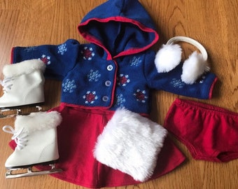 680add23d American Girl Molly's Skating Outfit PLUS Molly's Skates & Muffs ... Adult  Owned, Displayed Only ... Near Mint Vintage Condition ... Retired
