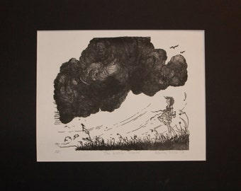 The Wistful Traveler Lithographic Print
