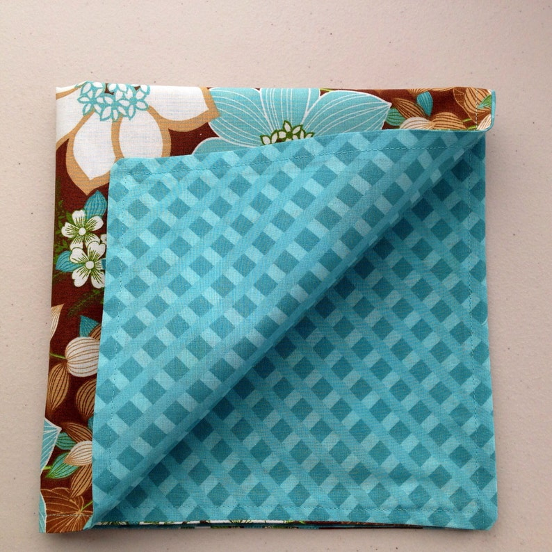 Spring time is coming these beautiful teal & brown napkins image 0