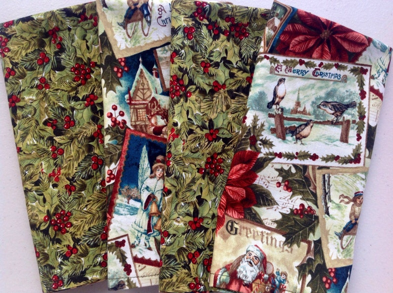 Christmas 4 double-sided napkins old fashioned christmas is image 0