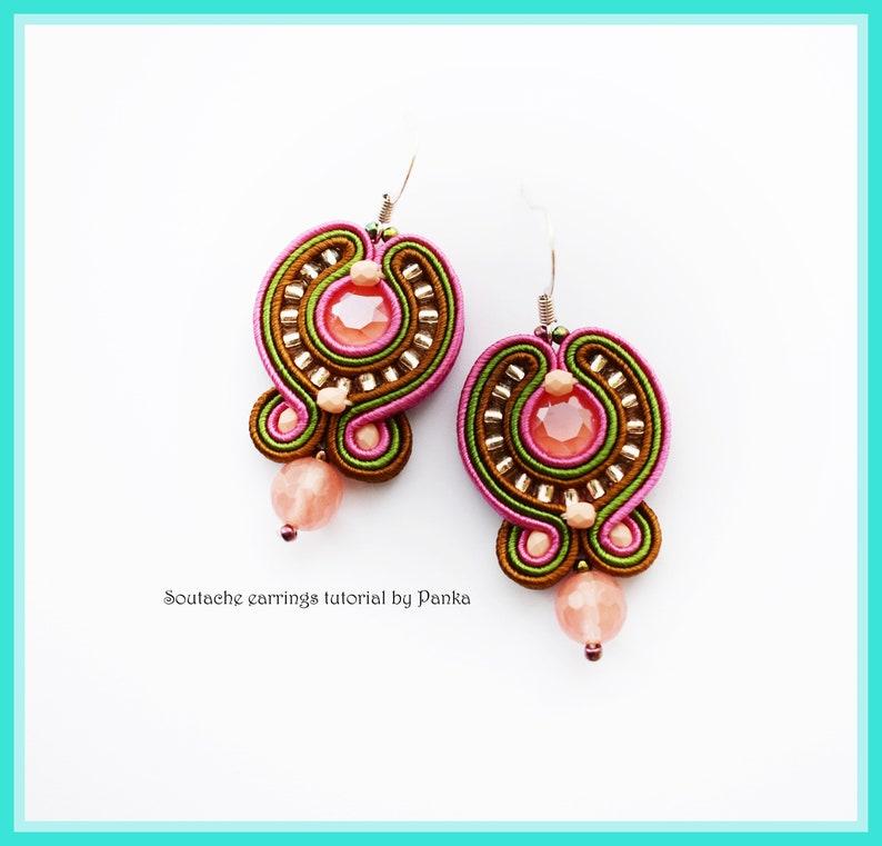 SALE 50/% TUTORIAL ONLY Soutache earrings tutorial