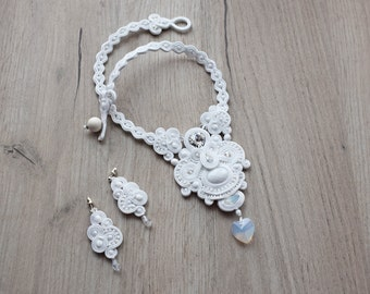 SALE - Wedding Soutache set statement soutache jewelry.