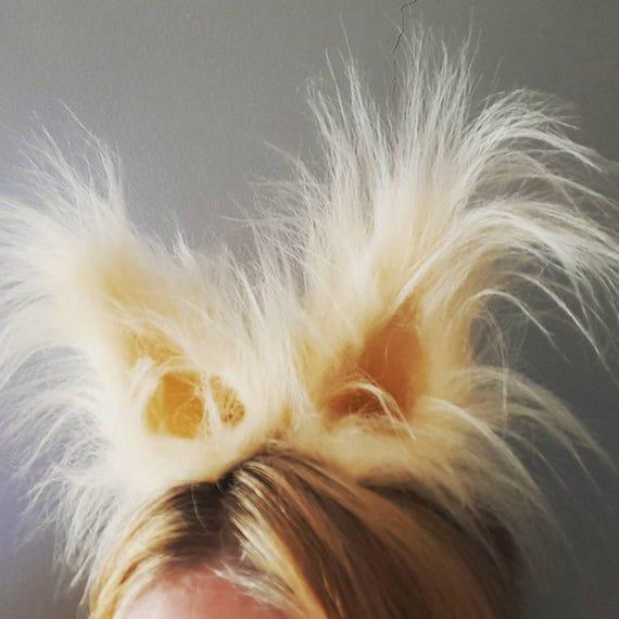 Long Haired Dog Ears Headband Faux Fur Ears Cosplay Animal Ears