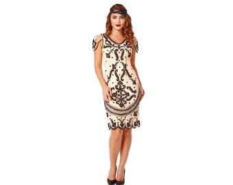 Schwarz Downton Abbey Kleid Mit Armeln Vintage Inspiriert Etsy