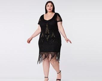 Flapper dress plus size | Etsy