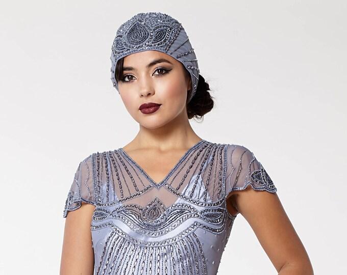 Beatrice hand embellished head piece Cap Turban Charleston Great Gatsby Flapper Vintage inspired 20s Downton Abbey Art Deco Speakeasy