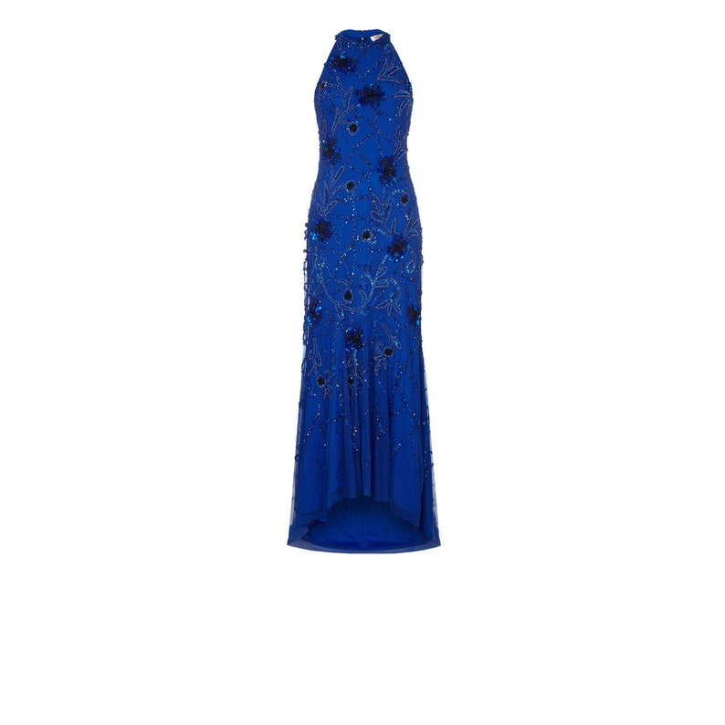 US12 UK16 AUS16 EU44 Royal Blue Agnes High Low Gown Long Prom Maxi Formal Dress 20s Great Gatsby Downton Abbey Bridesmaid Homecoming Beaded
