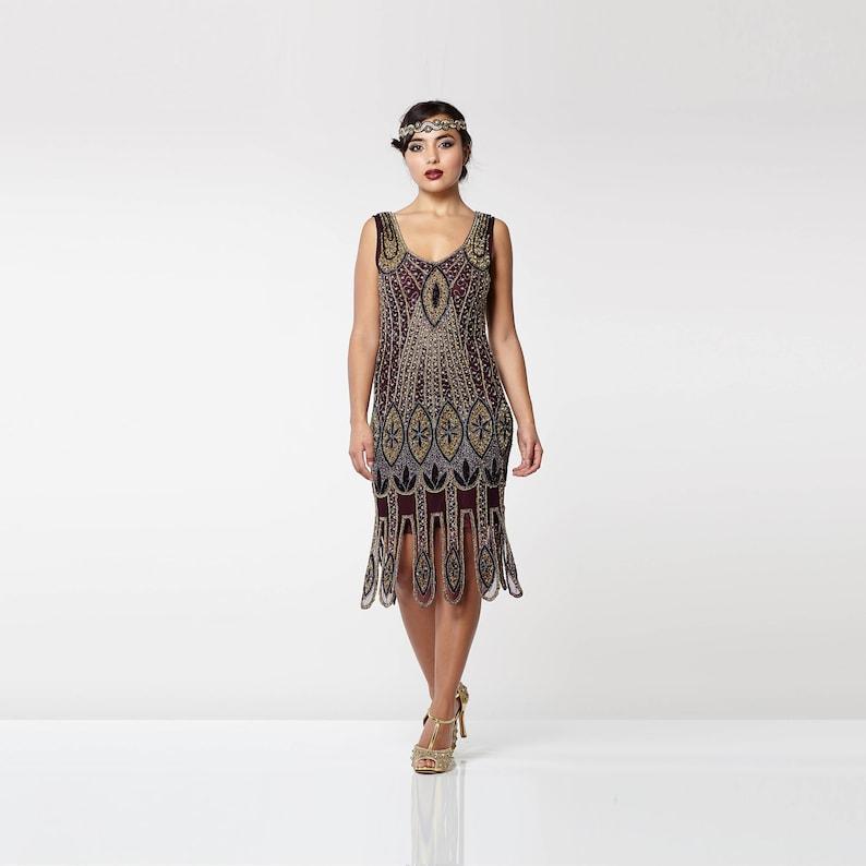 dce8ca26e37 Molly Purple Plum Flapper Dress 20s Great Gatsby Art Deco