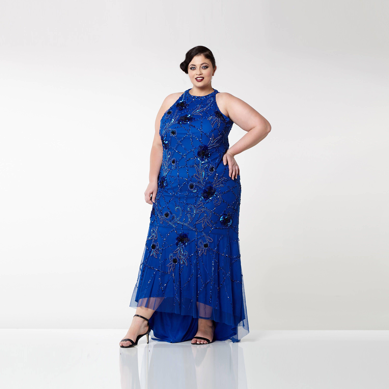 US18 UK22 AUS22 EU50 Plus Size Royal Blue Agnes High ...