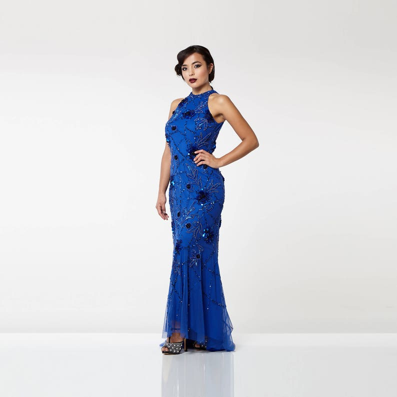 af1b42b4086 Canada Duty Free Shipping Royal Blue Agnes High Low Gown Long