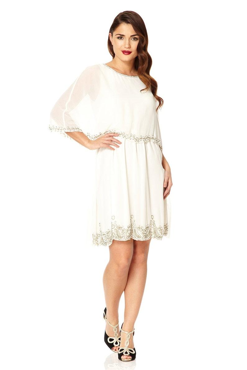 White Dresses For Bridal Shower Plus Size | Saddha