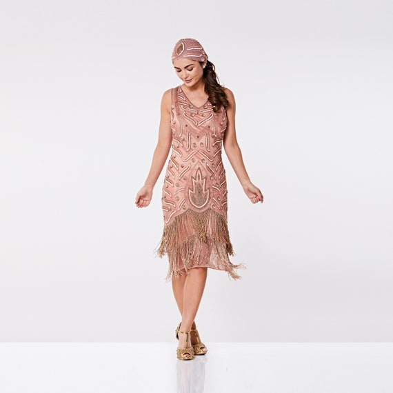 Gold Fringe Flapper Dress