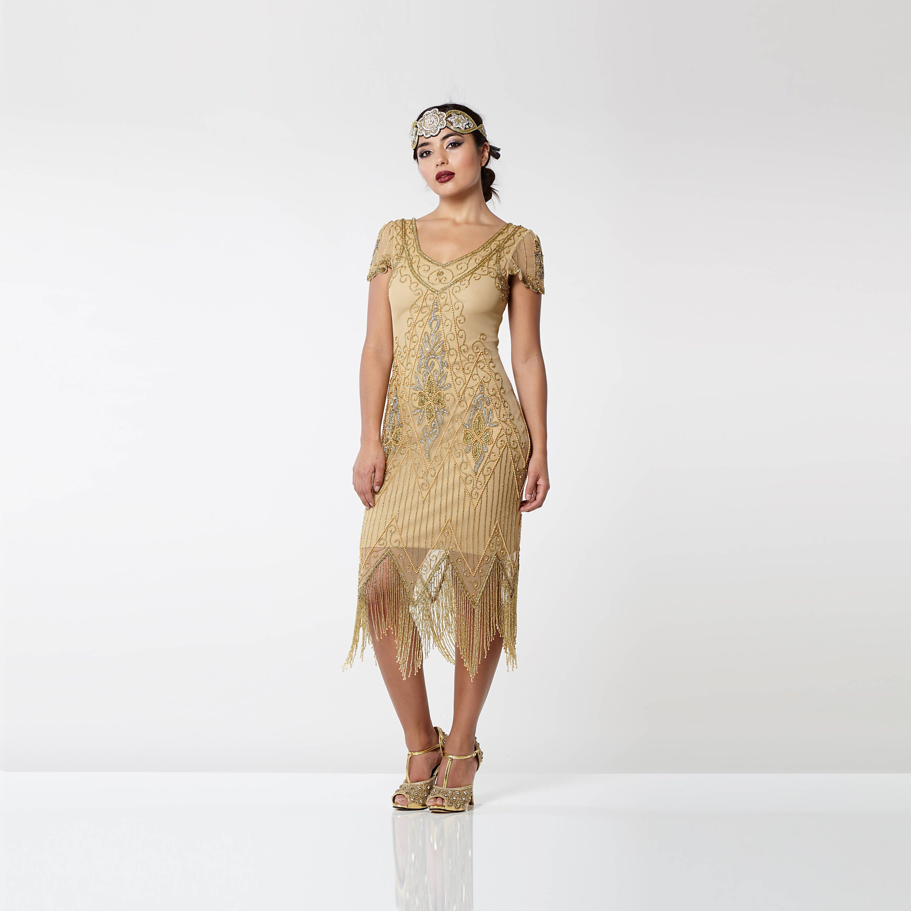 Plus Size Annette Gold Vintage 20s Flapper Great Gatsby