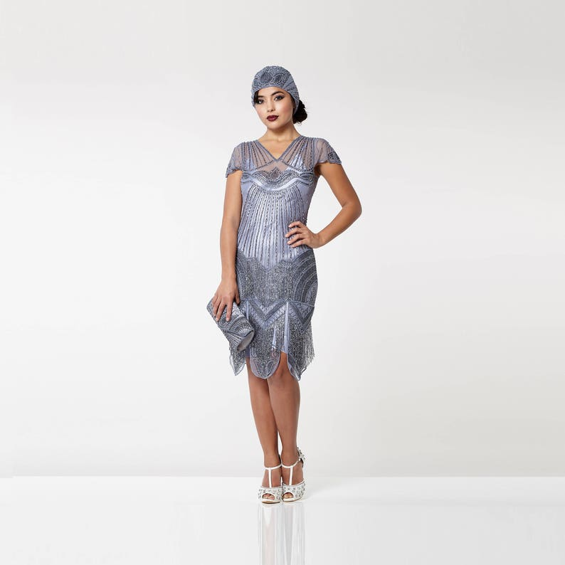 89540ca213b Canada Duty Free Shipping Beatrice Lilac Flapper Dress with