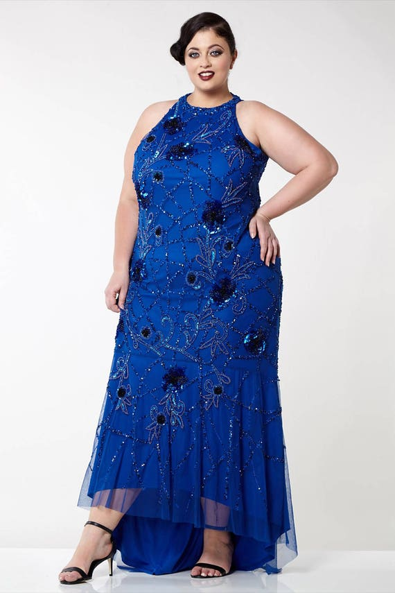 Royal Blue Agnes High Low Gown Long Prom Maxi Formal Dress 20s Etsy