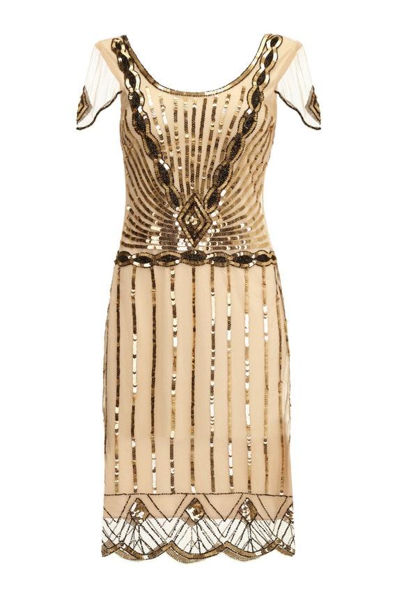 Plus Size Eva Blush Dress With Sleeves Vintage 1920s Flapper Etsy