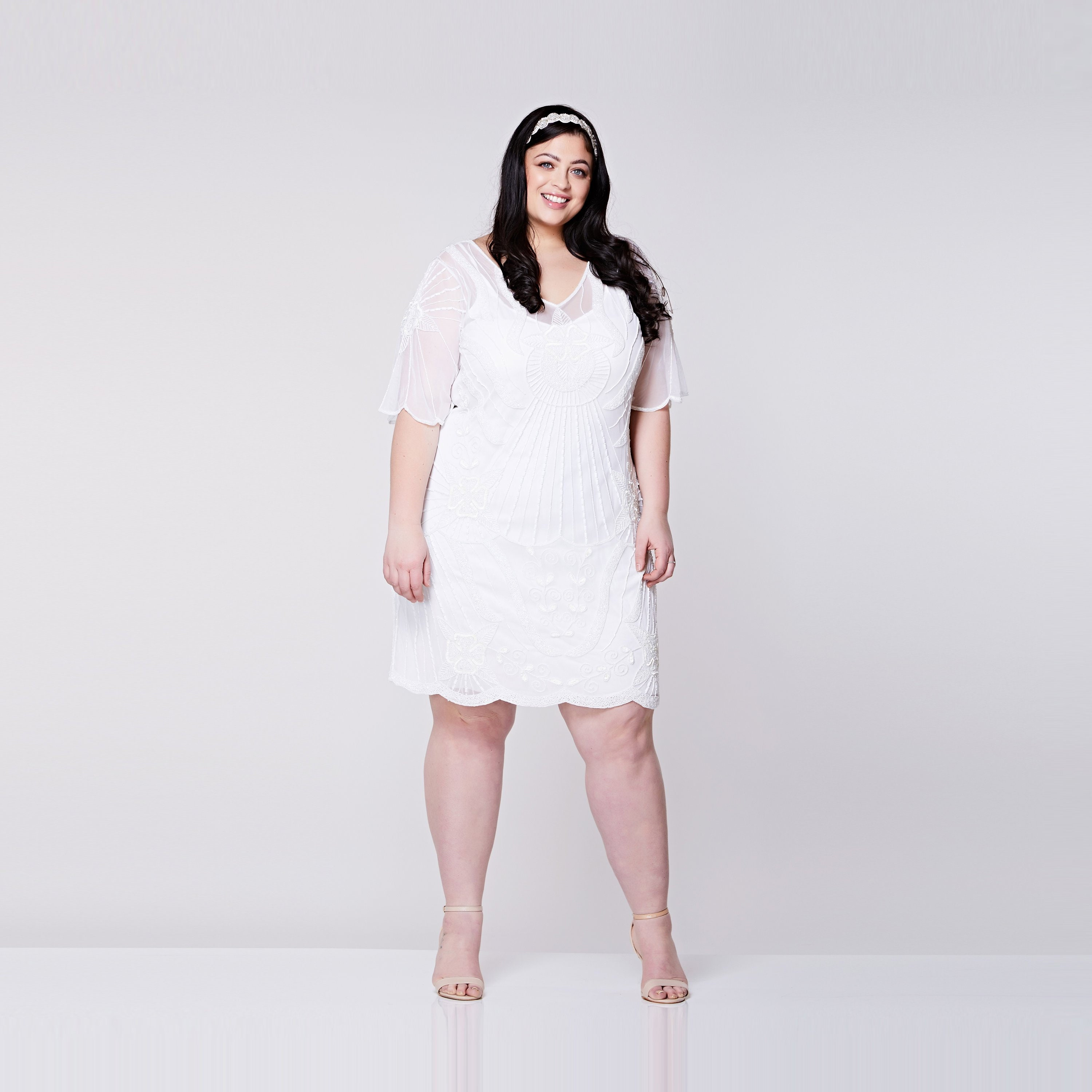 Plus size Kate White Flapper Dress Slip Included 1920s Great ...
