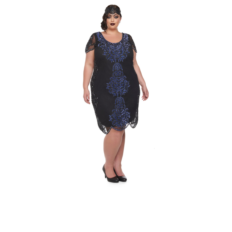 Plus Size Alice Black Purple dress with Sleeves Vintage ...