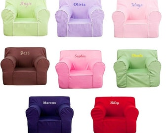 Charmant Large  Kids Personalized Foam Arm Chairs