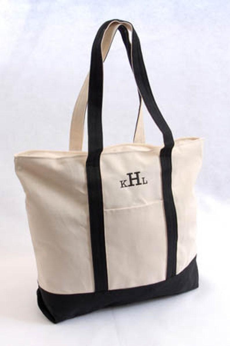 Bridesmaid Gift Gift for Her Set of 5 Bridesmaid Tote Bags Monogram Bag Bridal gift Beach Bag
