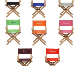 Lovely Kids Personalized Directors Chair Canvas Foldable   Embroidered Chair