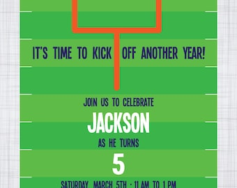 Football Birthday Invitation. Park Birthday Party. Outdoor Birthday Party. Sports Birthday.