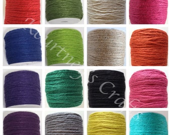 cb9fe6b40ed9 2mm Multiple Color Options Jute Twine Cord Non-Polished 2mm 100M Roll  (Approx. 109 Yard)