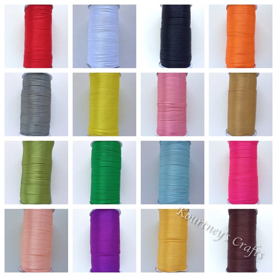 250 YD ROLL Silky 2mm Rattail Jewellery Cord Shamballa Kumihimo Many Colours