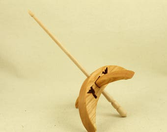 Cut-out Hummingbird Turkish Drop Spindle