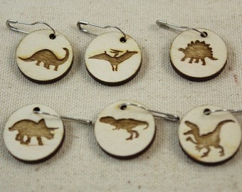 Stitch Markers set of 6 Dinosaurs