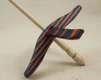 Aqua Fire SpectraPly Medium Glider Turkish Drop Spindle