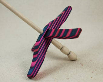 Cotton Candy SpectraPly Medium Glider Turkish Drop Spindle