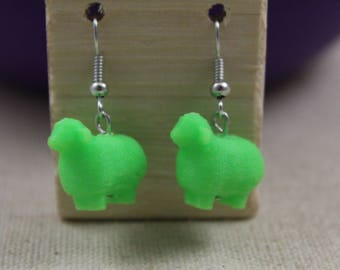 3D Printed Sheep Earrings