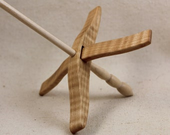 11.15.1 Tiger Maple Full Size Glider Turkish Drop Spindle